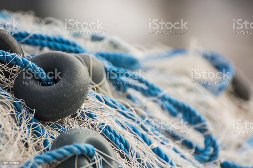 Fishing nets closeup stock photo