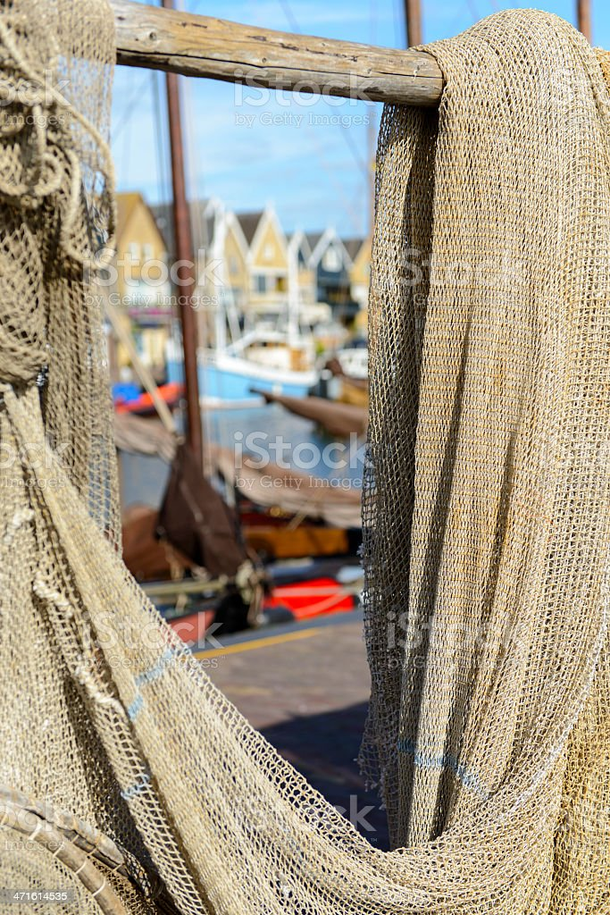 Fishing nets in Urk royalty-free stock photo