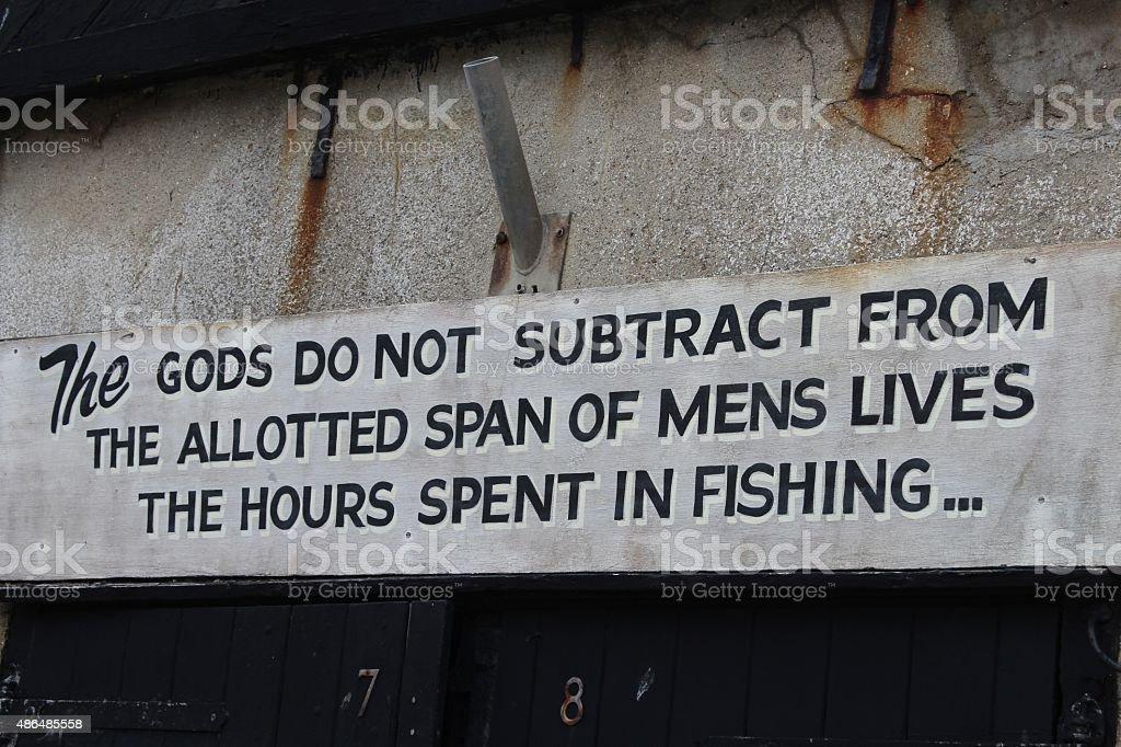fishing notice stock photo