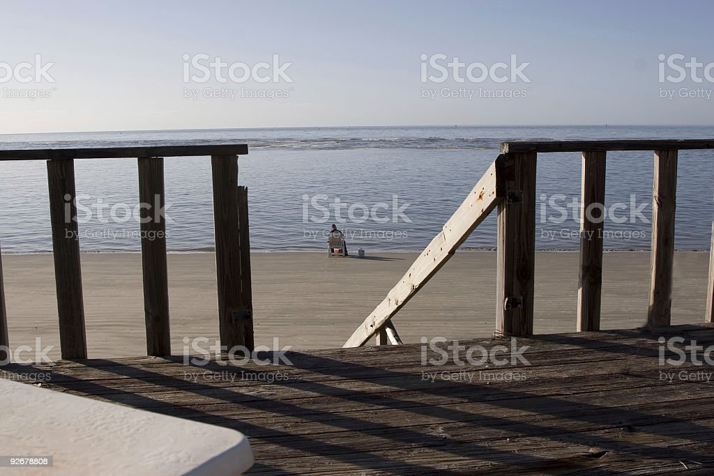 Fishing on a Quiet Morning royalty-free stock photo
