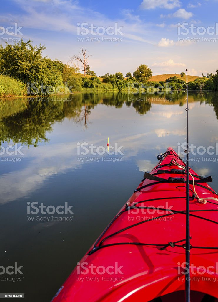 Fishing on the lake royalty-free stock photo