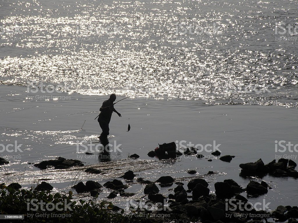 Fishing on the Nile royalty-free stock photo