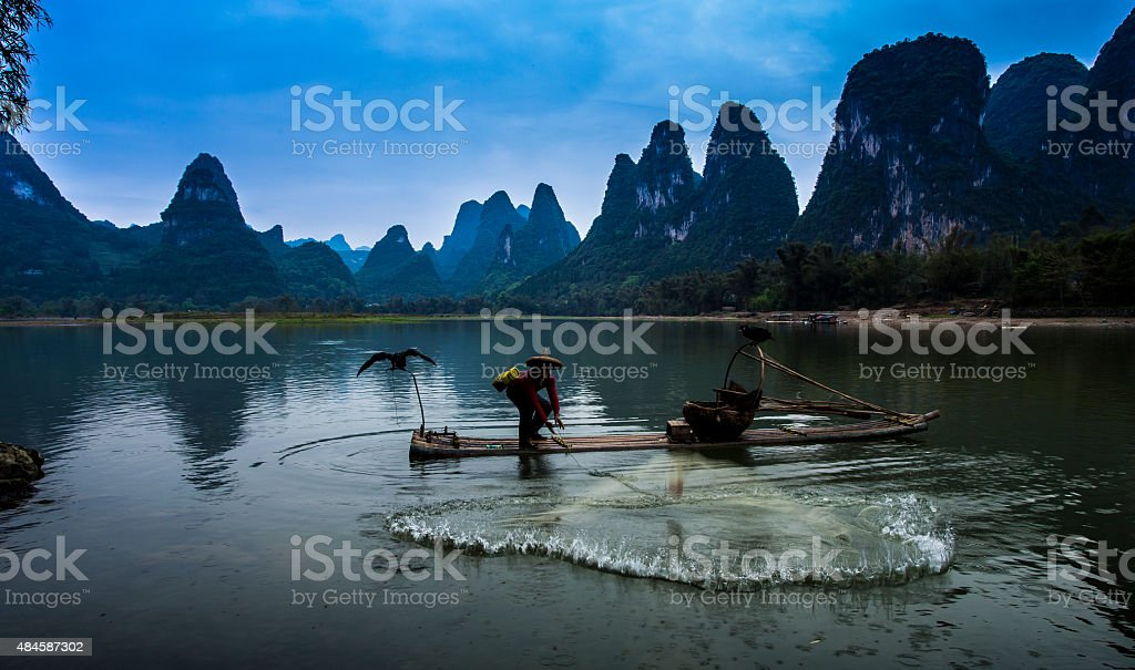 Fishing people stock photo