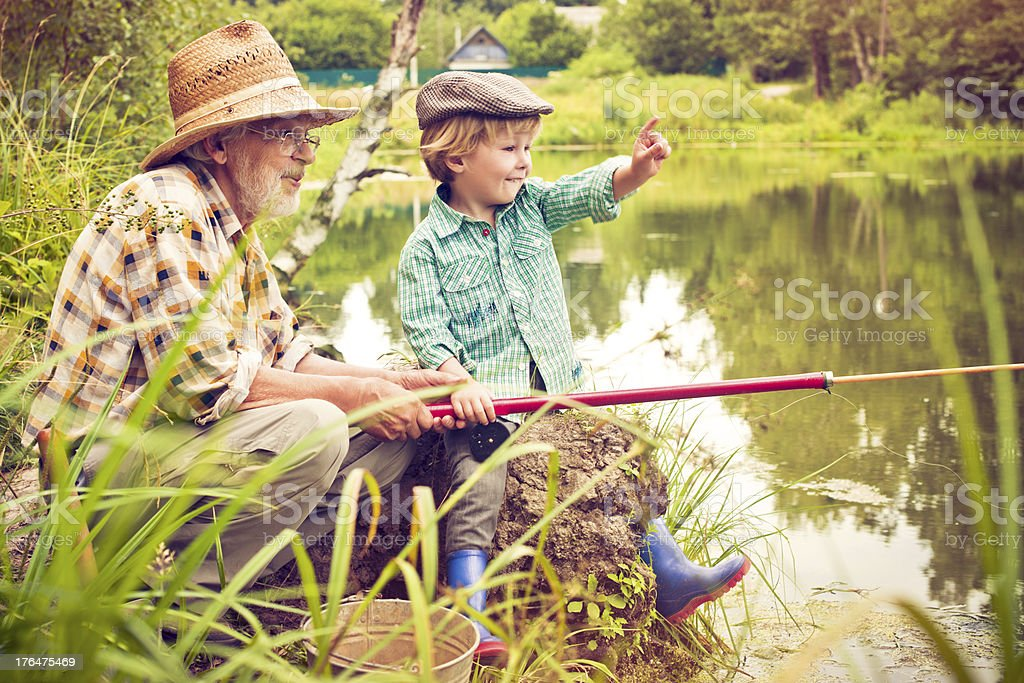 Fishing royalty-free stock photo