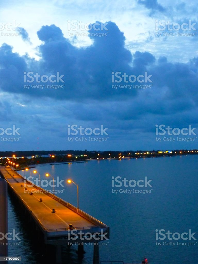 Fishing Pier at Key Biscayne stock photo