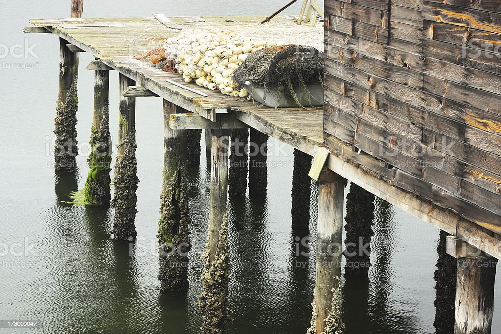 Fishing Pier Commercial Dock royalty-free stock photo