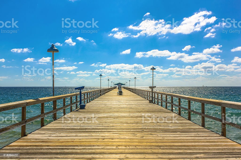 Fishing Pier Florida stock photo