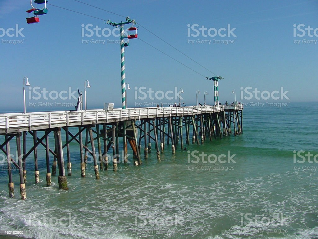 Fishing Pier on the Ocean royalty-free stock photo