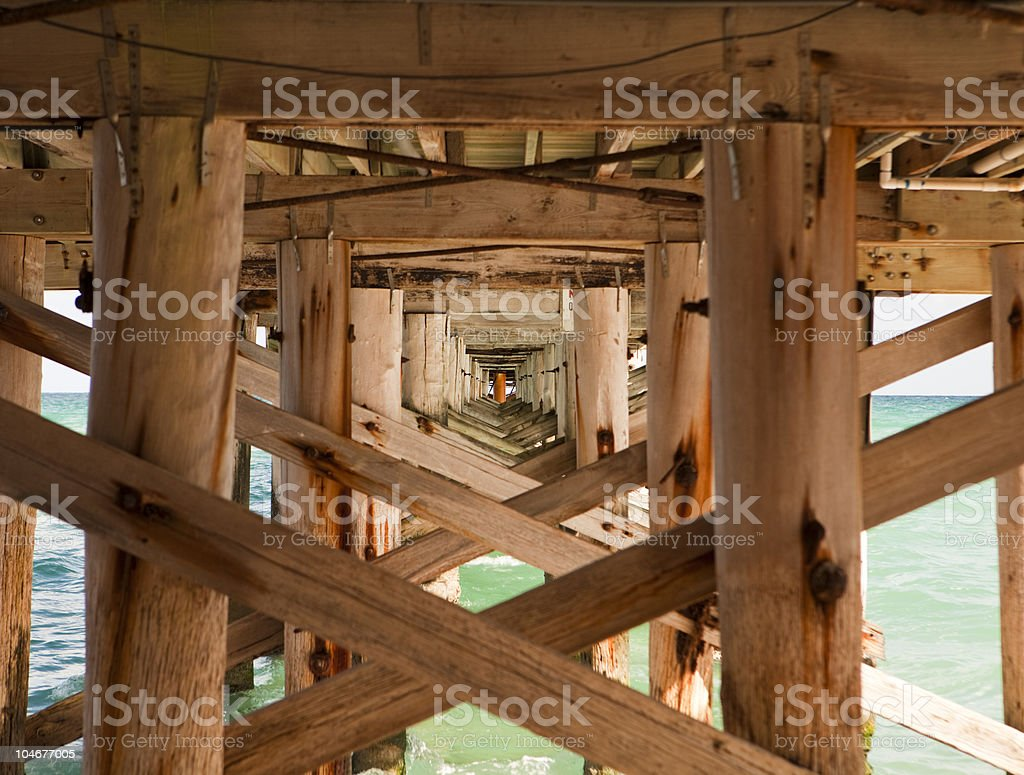 Fishing Pier Structure stock photo