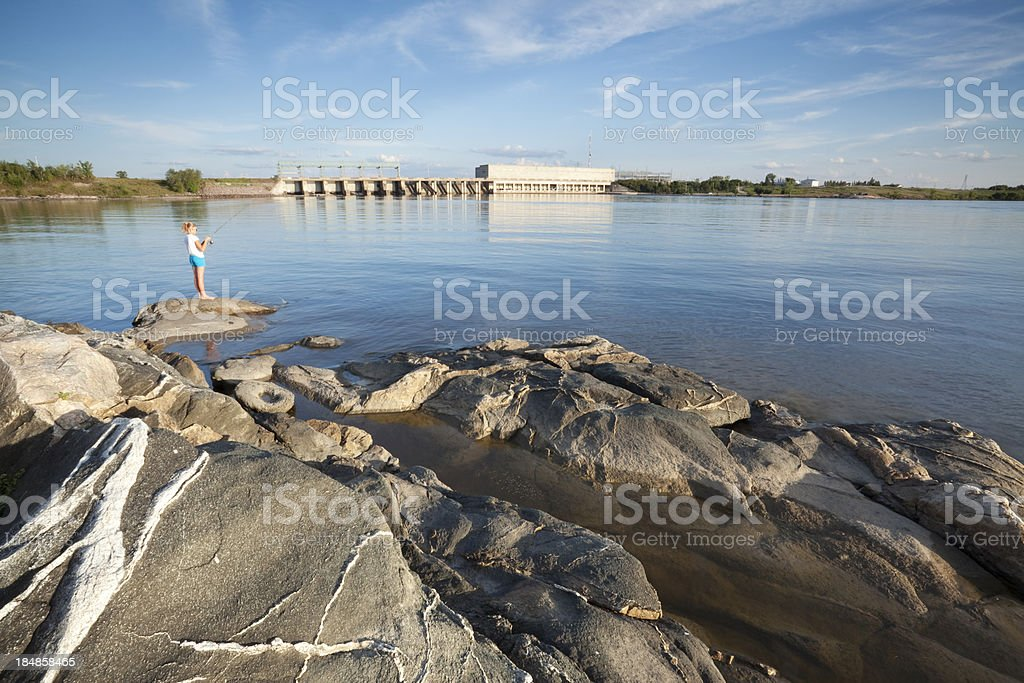 Fishing Pine Falls Manitoba stock photo