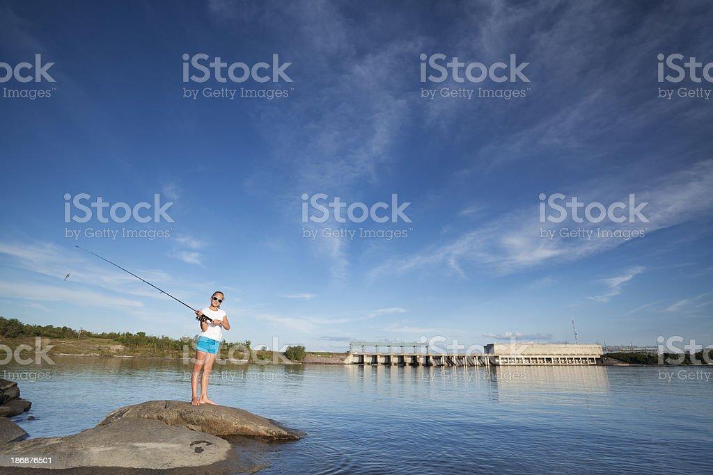 Fishing Pine Falls Manitoba stock photo
