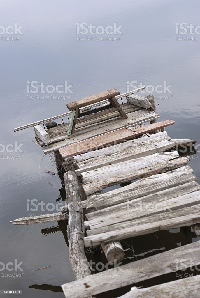 Fishing place royalty-free stock photo