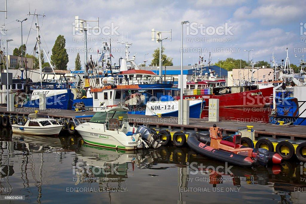 Fishing port in Kolobrzeg royalty-free stock photo