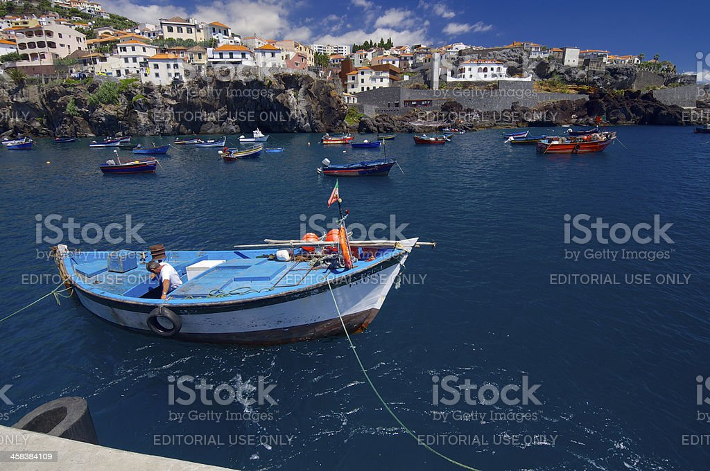 fishing port royalty-free stock photo