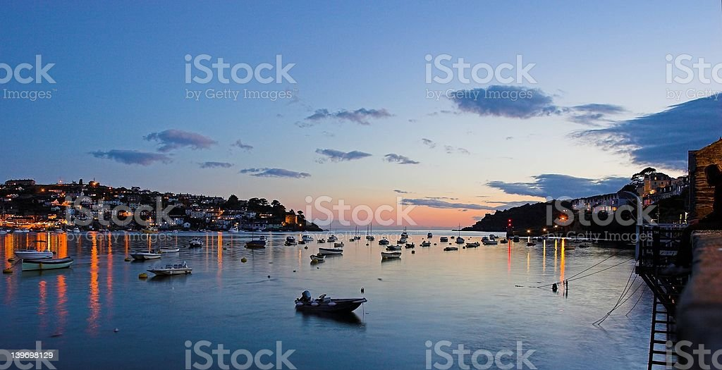 Fishing Port Sunset stock photo