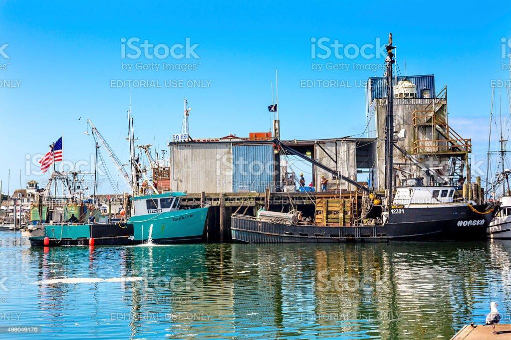 Fishing Processor Westport Grays Harbor Washington State stock photo