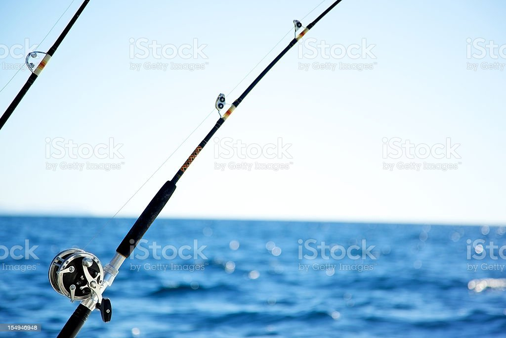 fishing reel ocean sports royalty-free stock photo