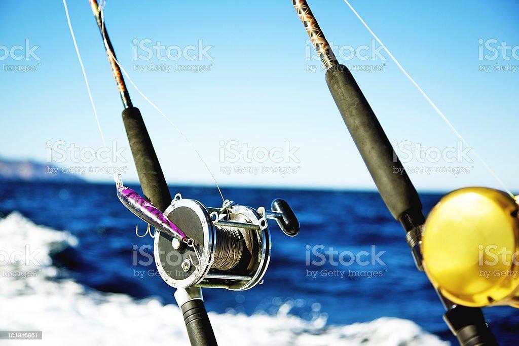 fishing reel ocean sports royalty-free stock photo