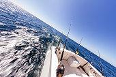 Fishing Reels on an Ocean Boat