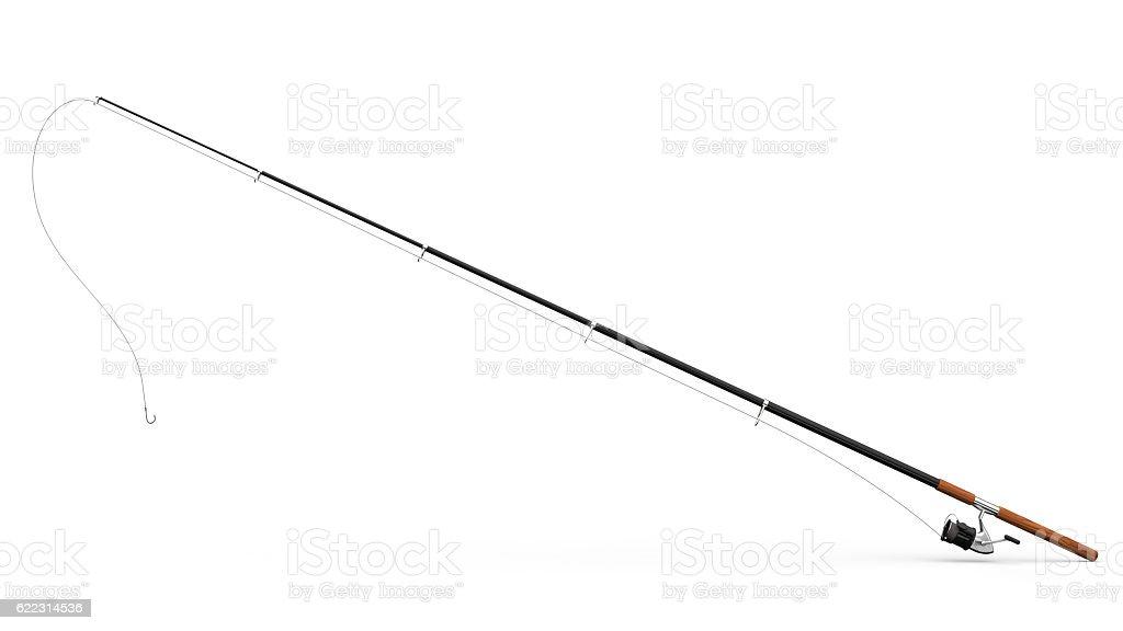 Fishing rod stock photo