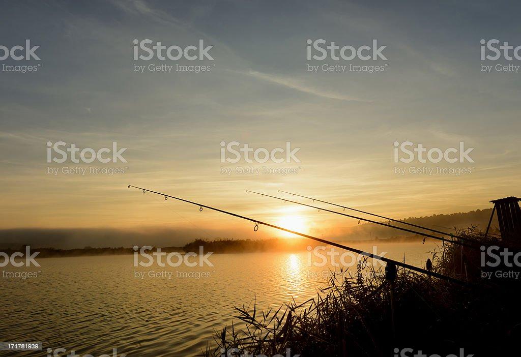 fishing rods royalty-free stock photo