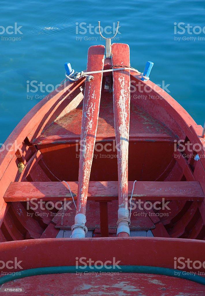Fishing rowboat 'gozzo', Giovinazzo - Italy stock photo