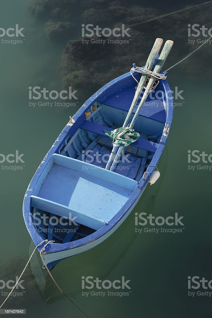 Fishing rowboat in little port of Giovinazzo, Apulia (South Italy) stock photo