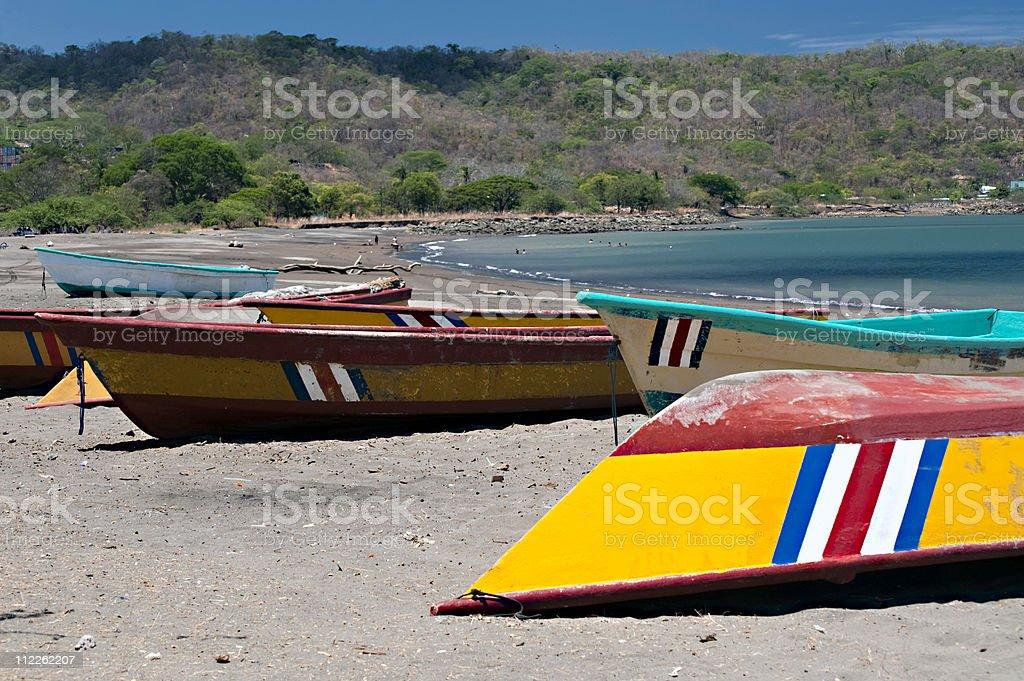 fishing rowboats royalty-free stock photo