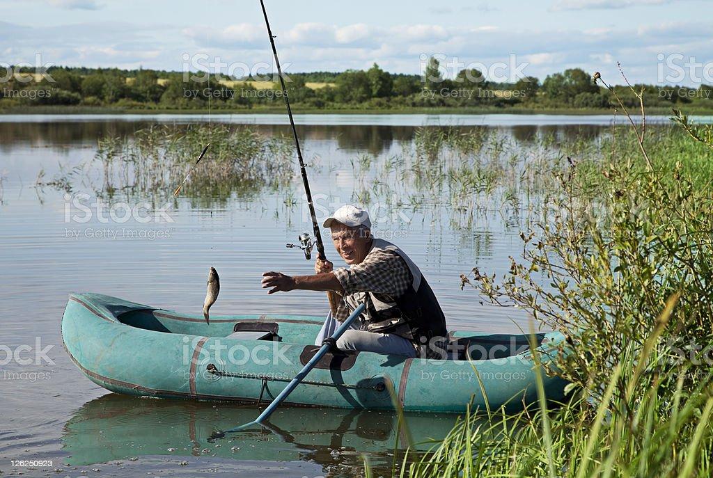 fishing scene royalty-free stock photo