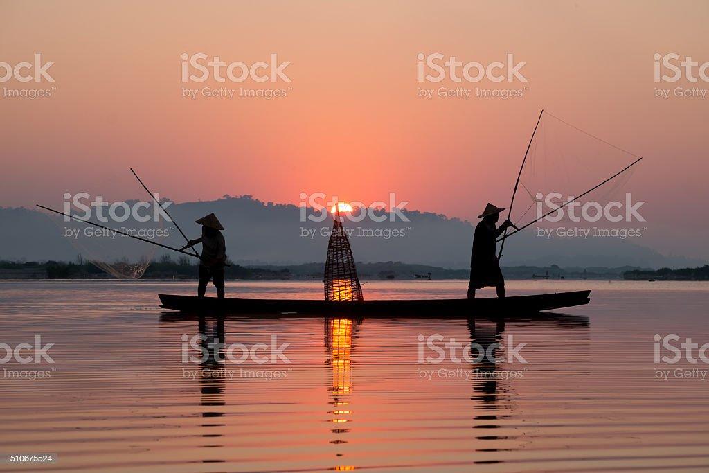 Fishing scoop stock photo