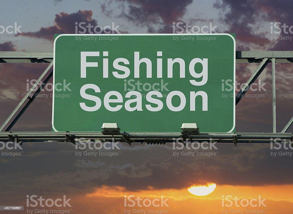 Fishing Season stock photo