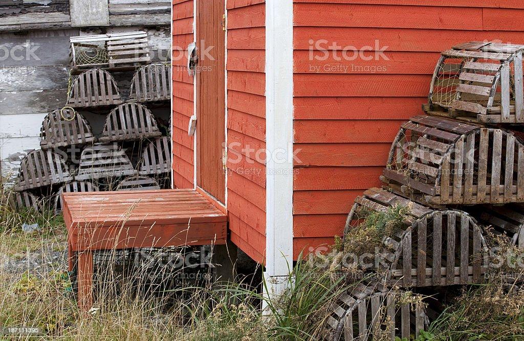 Fishing Shack in Newfoundland stock photo