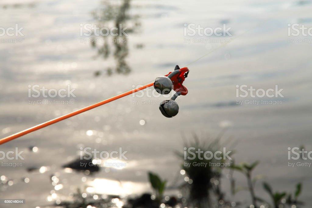 Fishing tackle. Alarm. stock photo