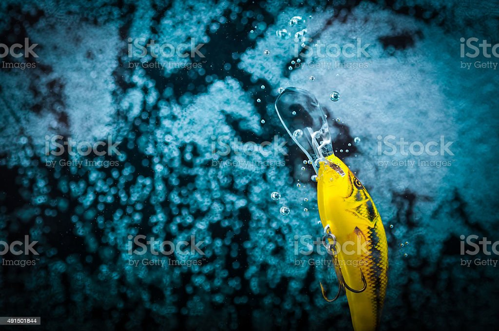 Fishing tackle in action royalty-free stock photo