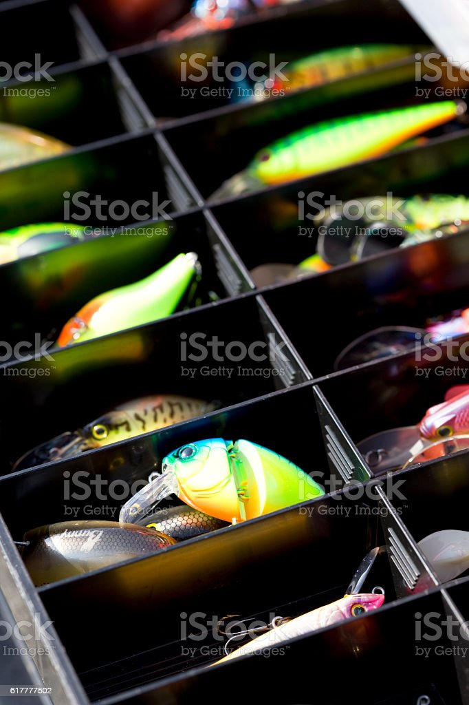 Fishing tackles stock photo