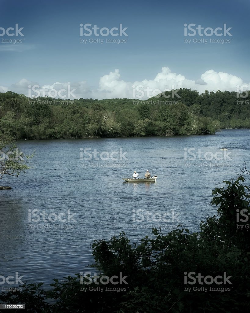 Fishing the Susquehanna royalty-free stock photo