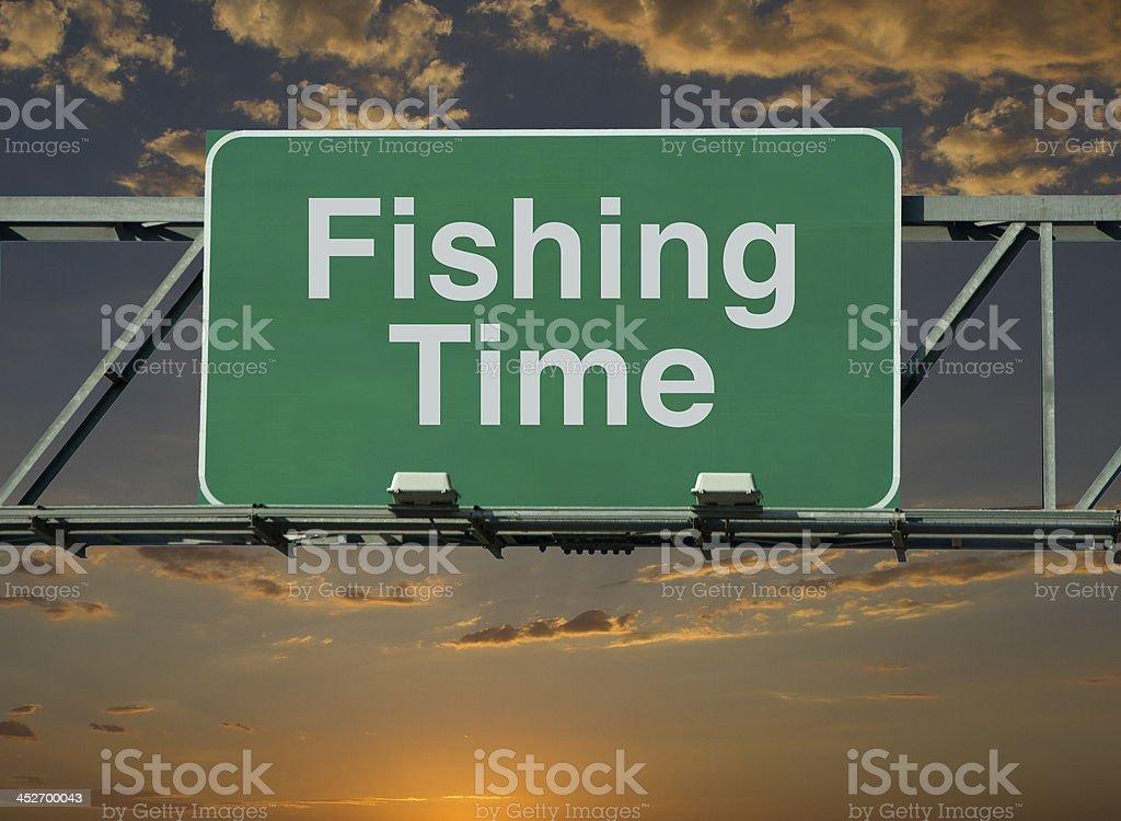 Fishing Time stock photo