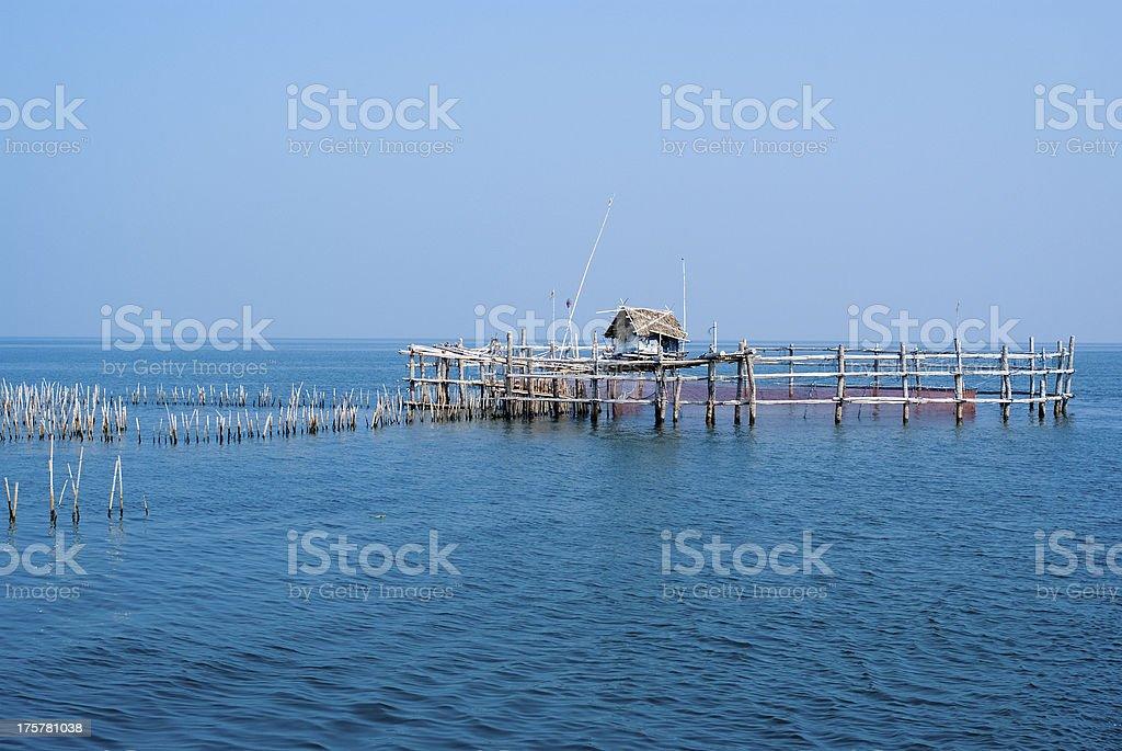 Fishing trap / equipment royalty-free stock photo
