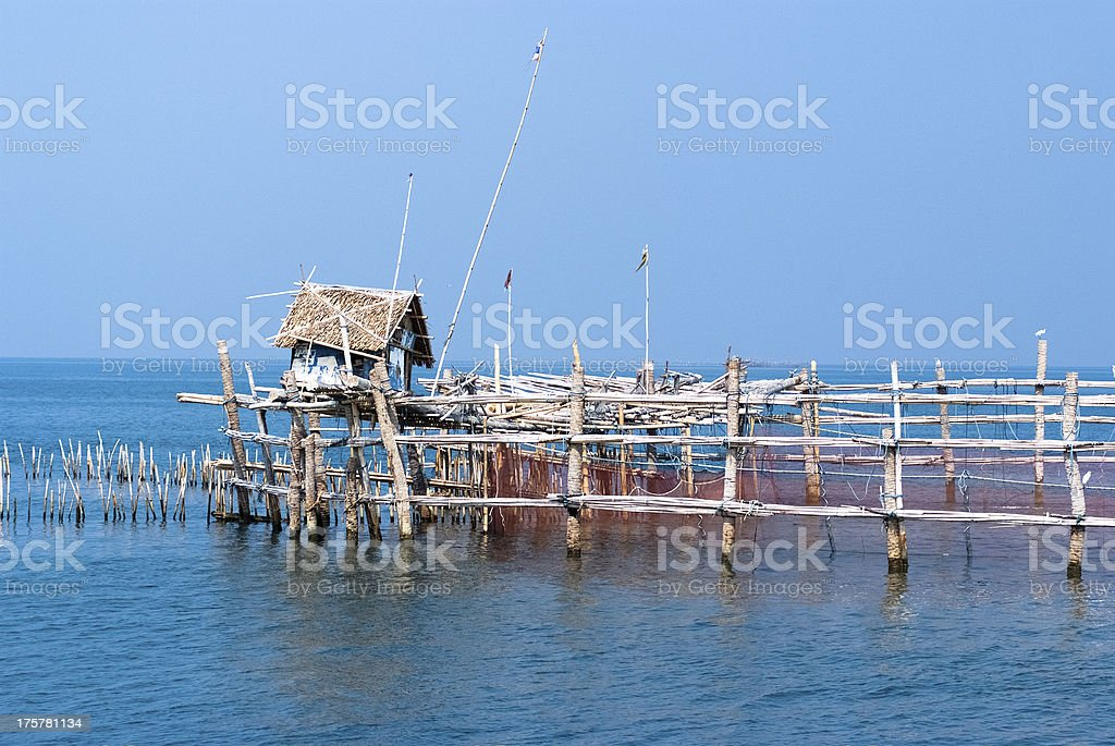 Fishing trap / equipment royalty-free stock photo
