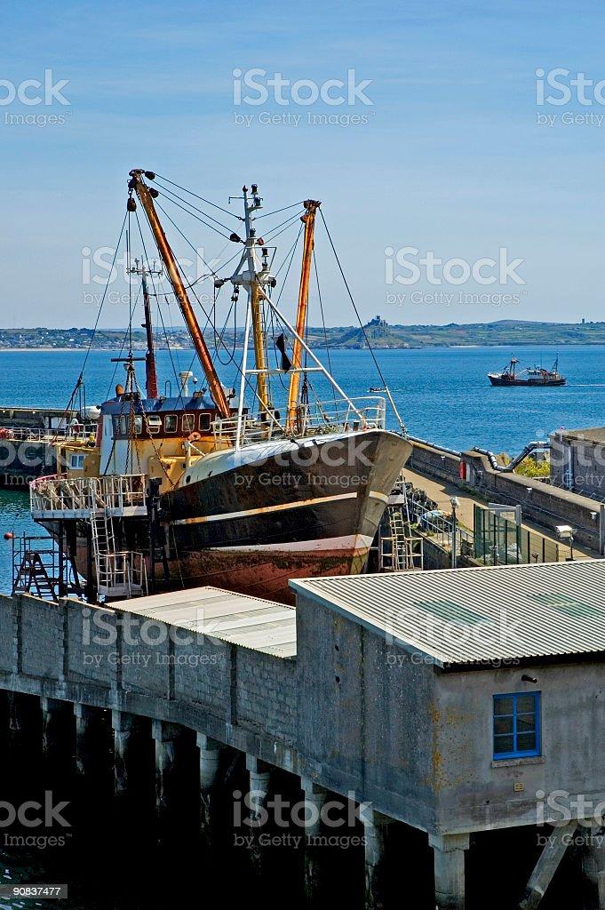 fishing trawler royalty-free stock photo