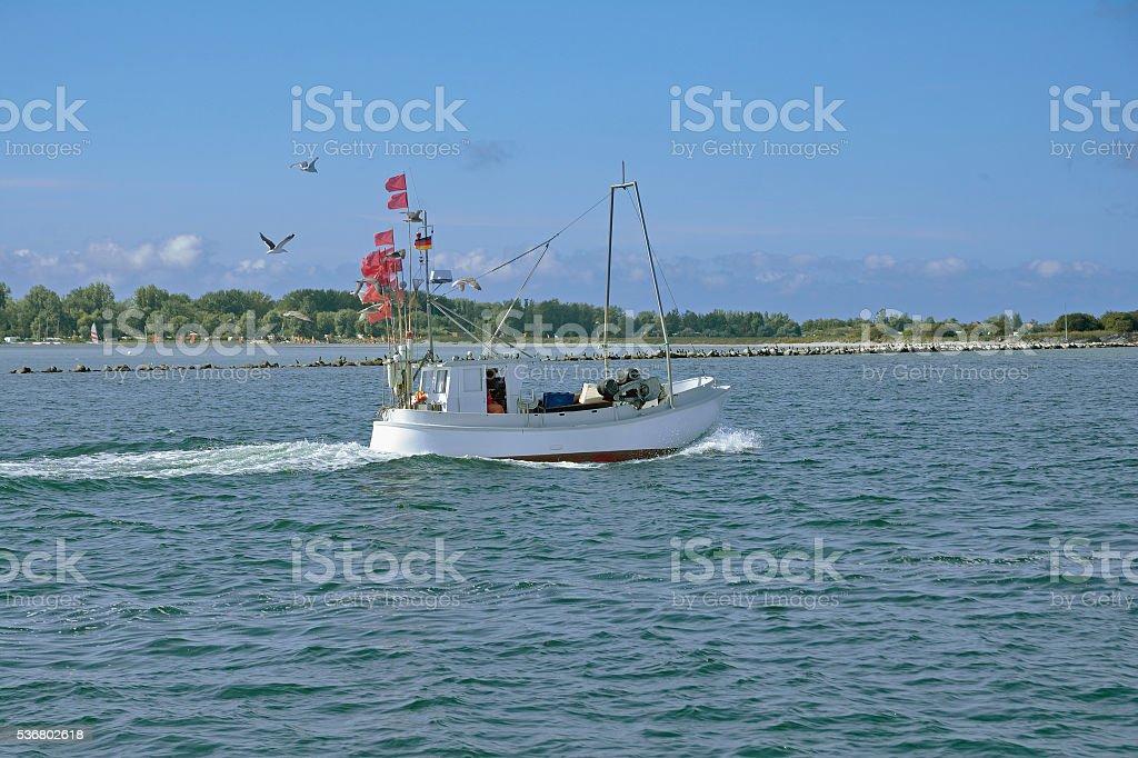 Fishing Trawler,baltic Sea,Fehmarn,Germany stock photo