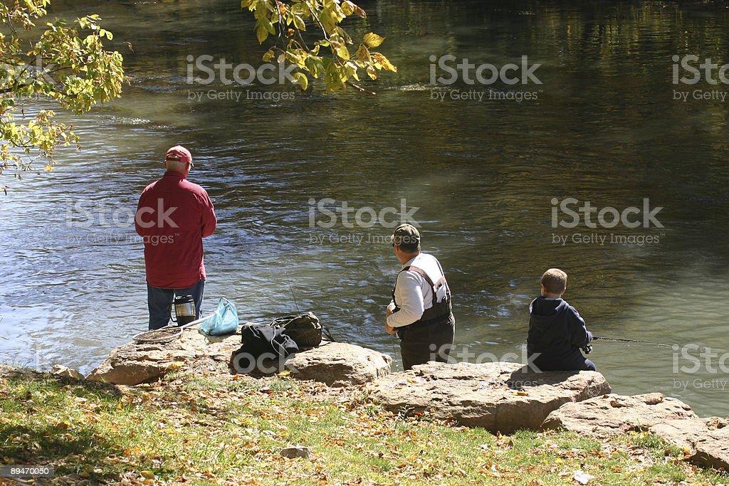 Fishing TRIO of Fisherman! royalty-free stock photo