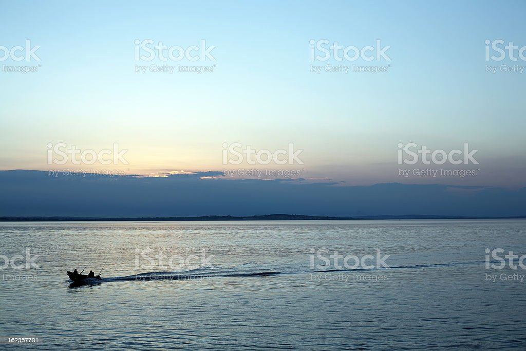 Fishing trip, Republic of Ireland stock photo