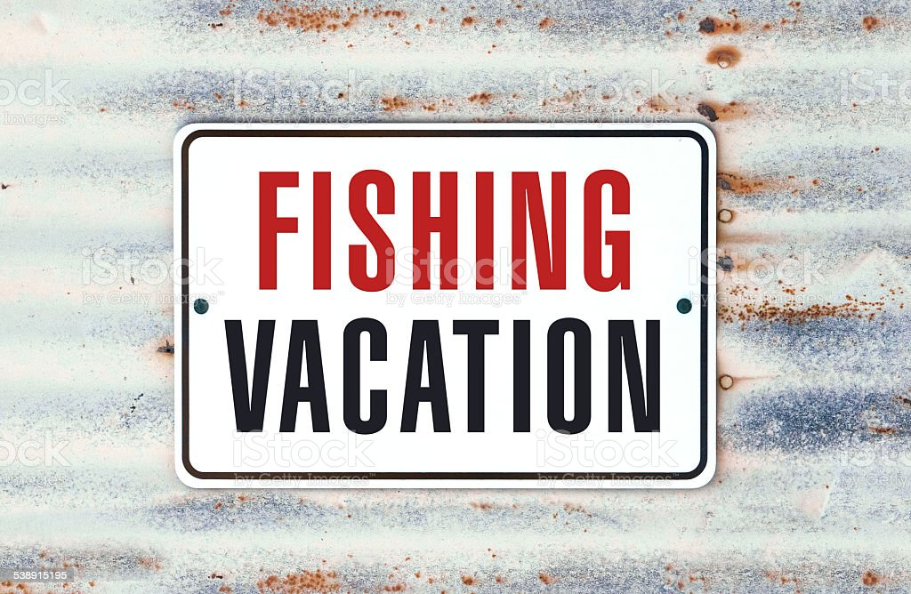 Fishing Vacation stock photo