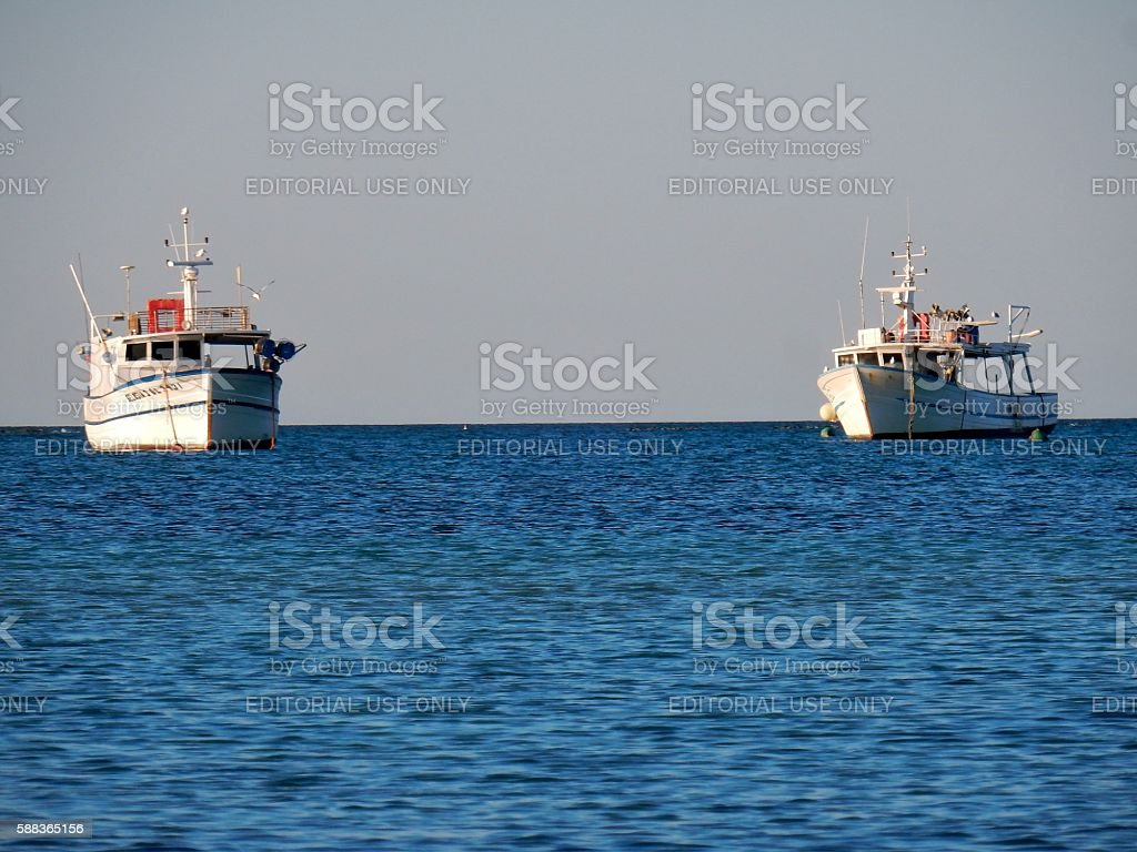 Pescherecci a Porto Cesareo stock photo
