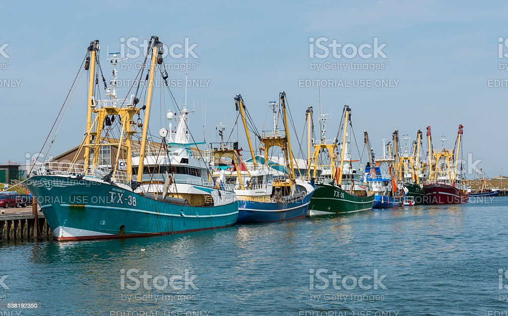 Fishing Vessels Texel stock photo