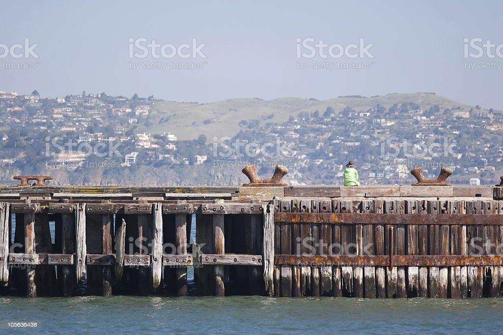 Fishing View royalty-free stock photo