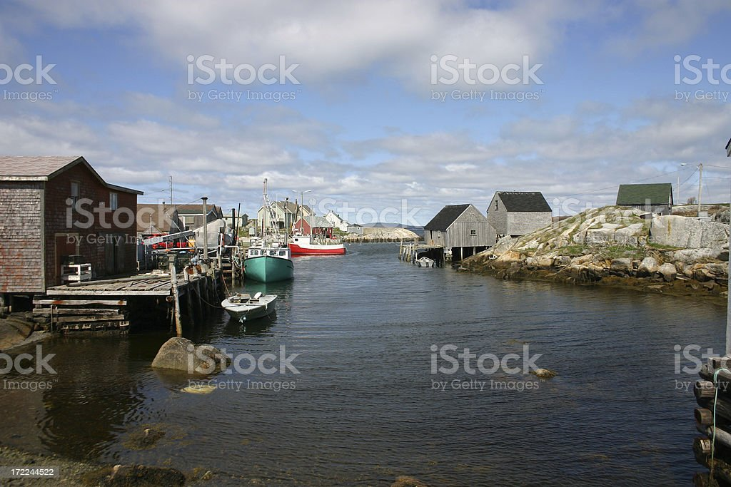 Fishing Village 2 stock photo