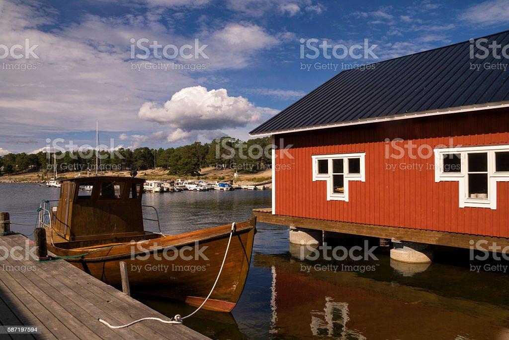 Fishing village Holick stock photo
