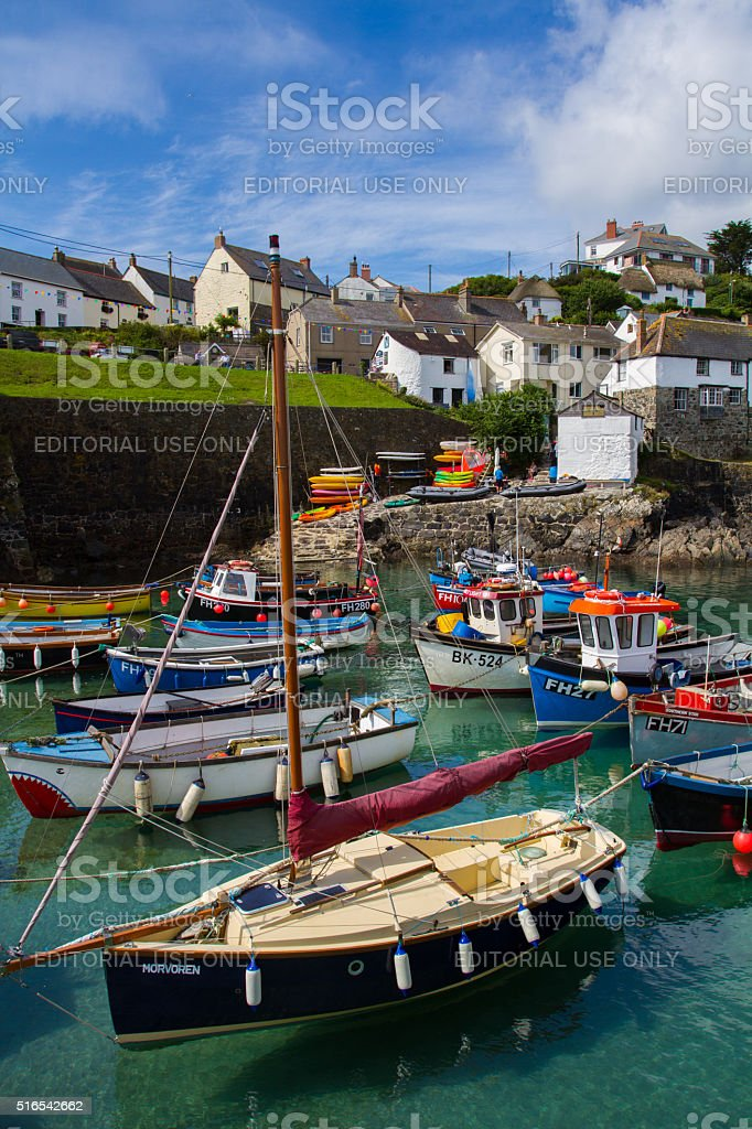Fishing Village In Cornwall stock photo